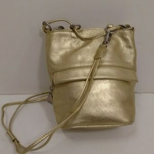 Gold Crossbody Evening Bag Americana by Sharif Sml